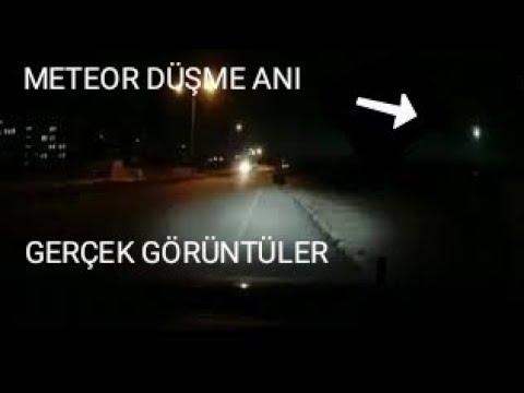 ERZURUM'DAN METEOR DÜŞME ANI