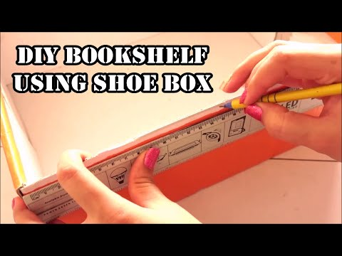 How to make Book Holder – diy bookshelf using shoe box – Book organizer