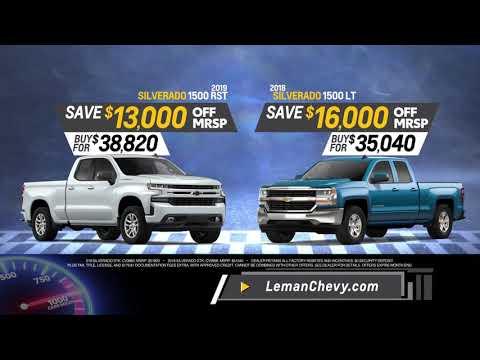Sam Leman Chevy >> Sam Leman 1000 Sales Event Leman S Chevy City
