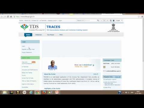 How to Download TDS Certificate in Form 16A from TRACES