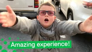 Boy Experiences Colour for the First Time