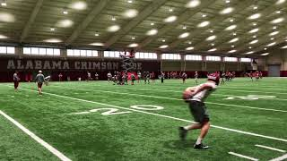 First Look at Alabama QBs Jalen Hurts & Tua Tagovailoa In Spring