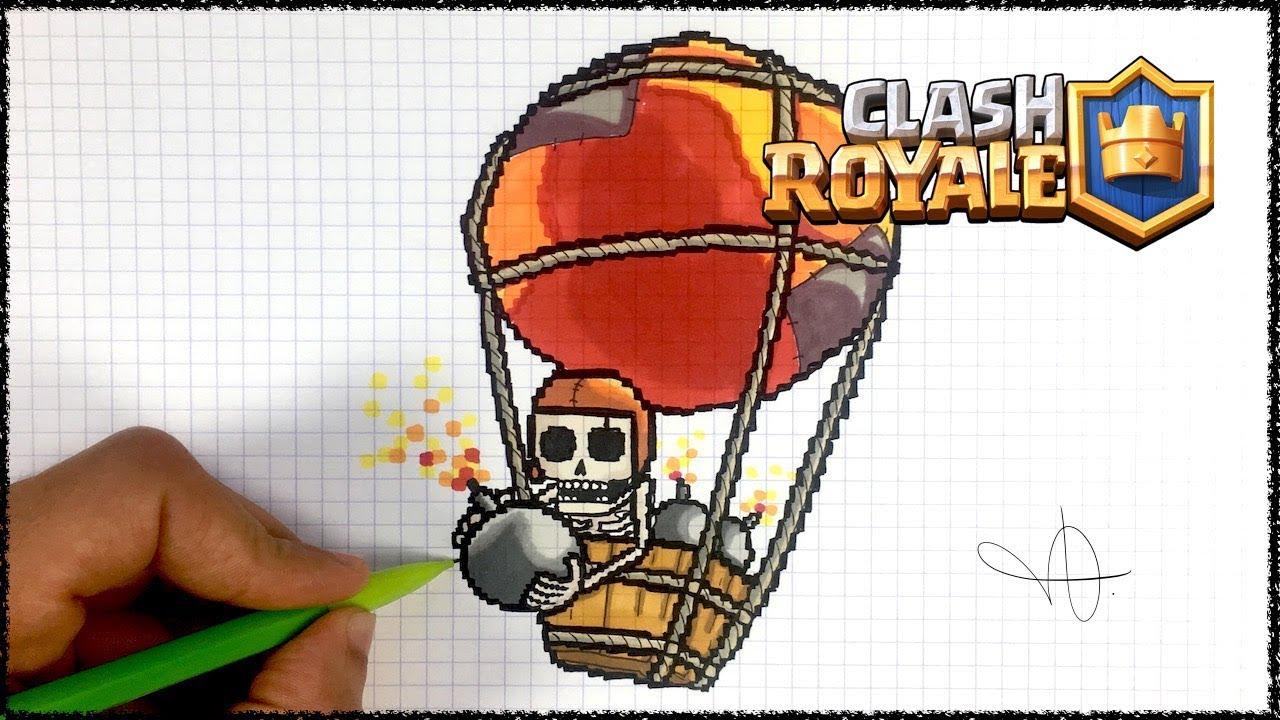 Draw Balloon Clash Royale Pixel Art