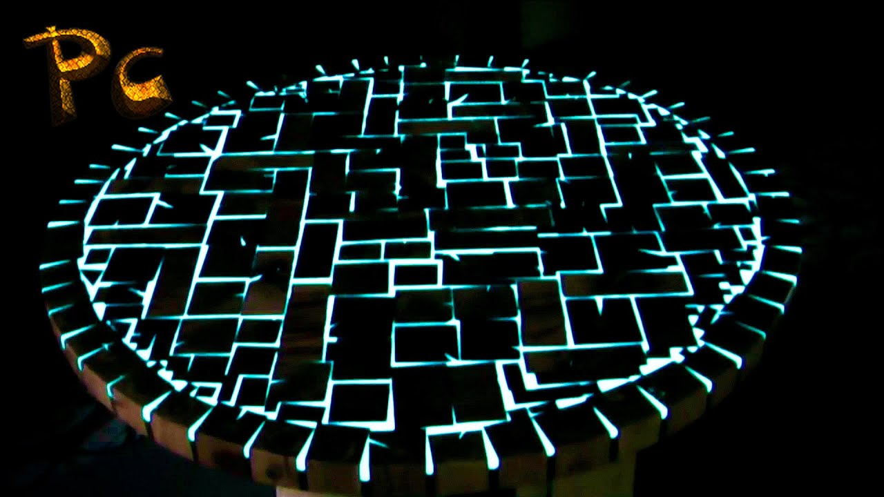 Glowing table made of wood. Стол светящийся из дуба. - YouTube