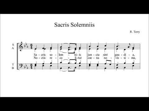 Sacris Solemniis, R. Terry, 4 voices, contralto, studio hd