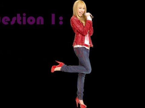 My Hannah Montana quiz!