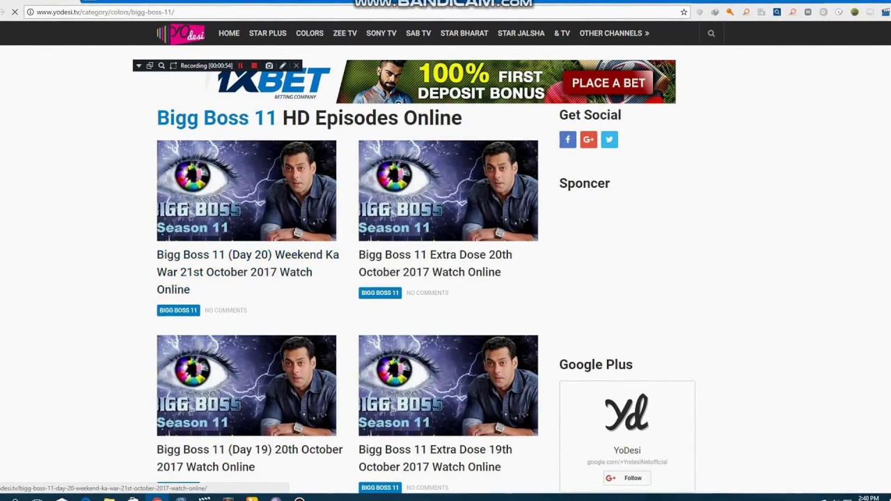 how to show a bigg boss 11 on free computer