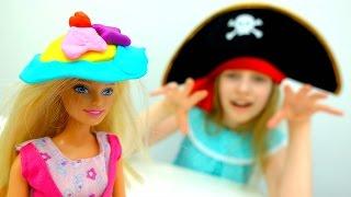 Игры одевалки - Барби выбирает шляпку - Видео для девочек