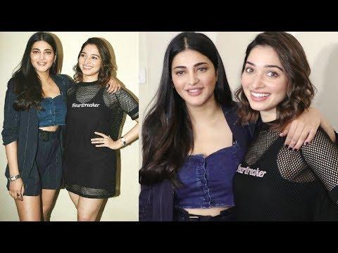 Shruti Hassan Shows LOVE For Tamanna Bhatia At F2 Movie Screening Mp3