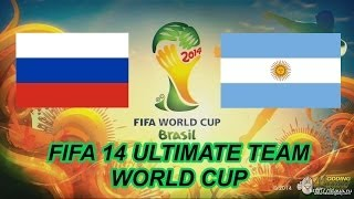 FIFA 14 Ultimate team World Cup: Россия - Аргентина
