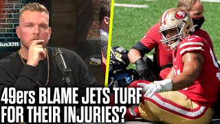Pat McAfee Reacts To 49ers Saying Metlife Field Is The Reason For Injuries