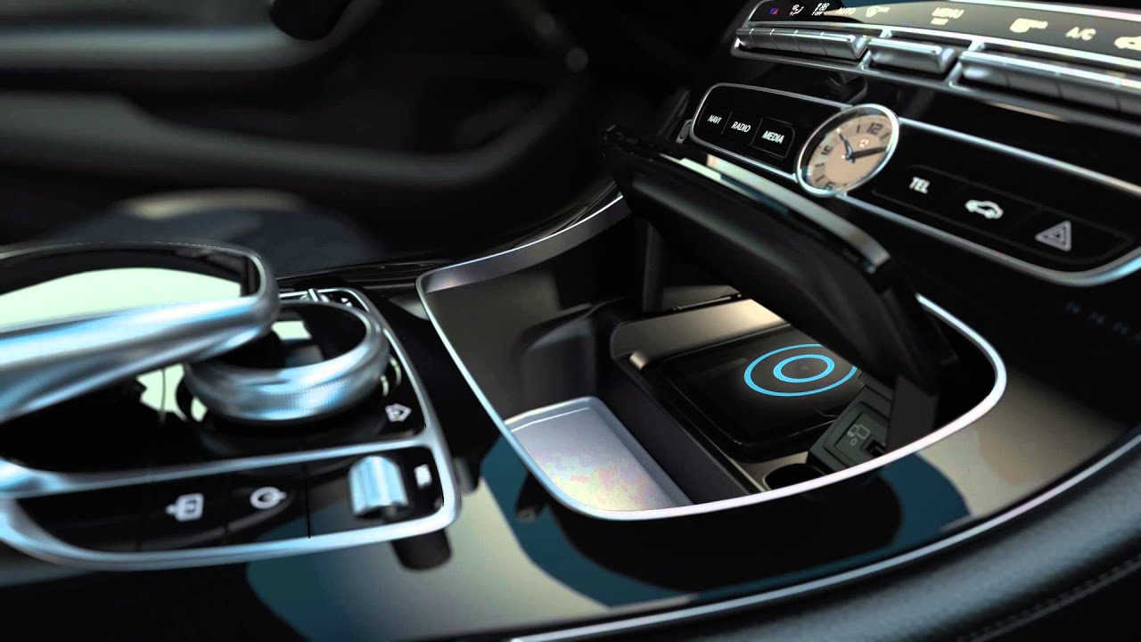 mercedes benz e klass 2016 wireless charging youtube