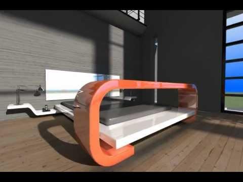 cama flotante con mesa desayunador YouTube