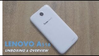 Lenovo A516 : UNBOXING & OVERVIEW