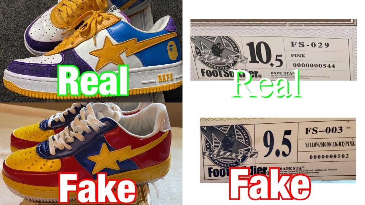 any BAPE Bapesta Real Vs Fake