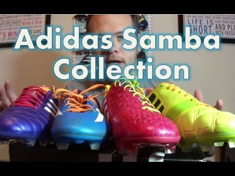 898cce32702 Adidas Samba Collection Soccer Cleats - Unboxed - YouTube