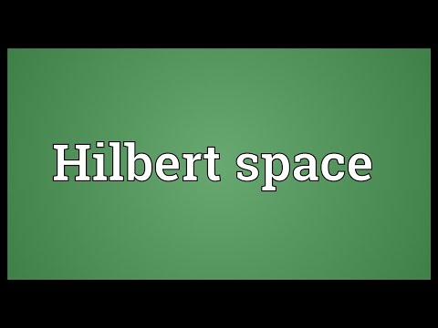 Hilbert space Meaning