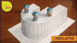 Draw 3D Letter J - Draw 3D Alphabet J - 3D Drawing - Easy Trick Art – Art Konna