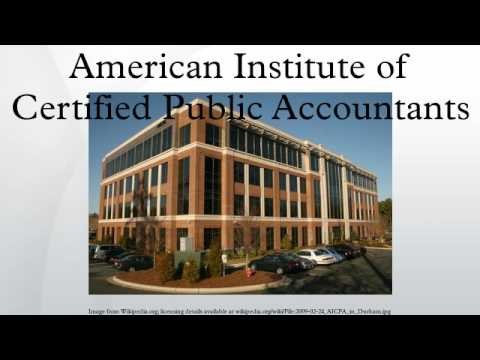the american institute of certified public Founded in 1887, the american institute of certified public accountants (aicpa) is the national professional organization of certified public accountants (cpas).
