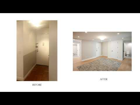 Contemporary Gut Renovation Design & Interiors Before & After - 411 E 53rd St, NYC