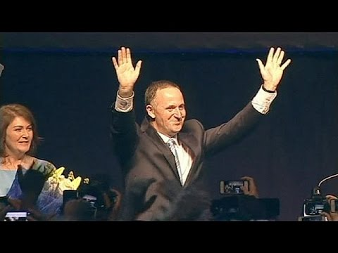 New Zealand PM John Key wins third term in office