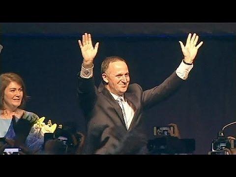 New Zealand PM John Key wins third term in office, September 20, 2014 - euronews (in English)  - ELKs1lA_bs8 -