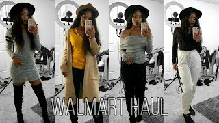 yes sis... WALMART CLOTHES! (im shook) ♡ FALL LOOKBOOK ♡ $140 Walmart Haul!