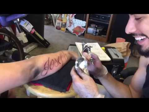 Tattoo Lettering From Start To Finish