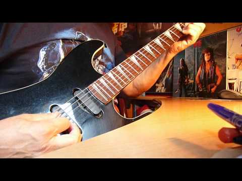 """MICHAEL SCHENKER GROUP """"Are You Ready To Rock"""" Riff Live and Studio Guitar Lesson"""