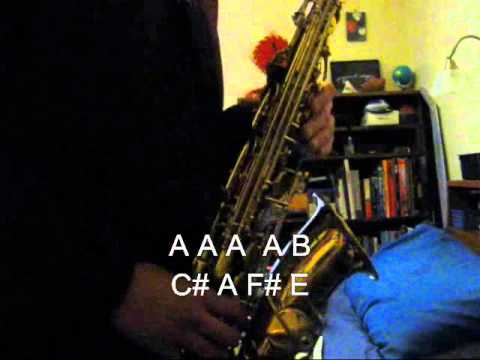 Saxdude26 Plays: Super Mario Bros. Theme - on Alto Sax (with Tutorial)
