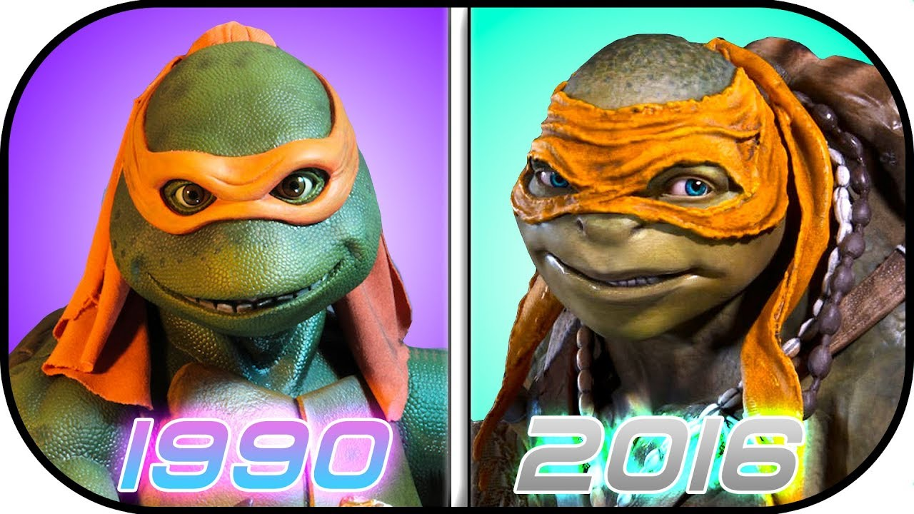 Evolution Of Ninja Turtles In Movies 1990 2016 Teenage Mutant Ninja Turtles History Youtube