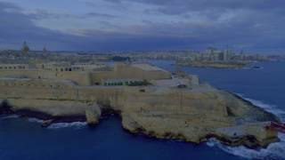 Last Flight into the Azure Window Malta | Gozo Comino |4k | oben360