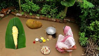 Unused KATHALER AATI Sabji Cooking by our Grandmother | Traditional Village Food Recipes