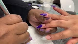 Nail Tutorial   Valentino Beauty Pure   Coffin Stiletto Nails