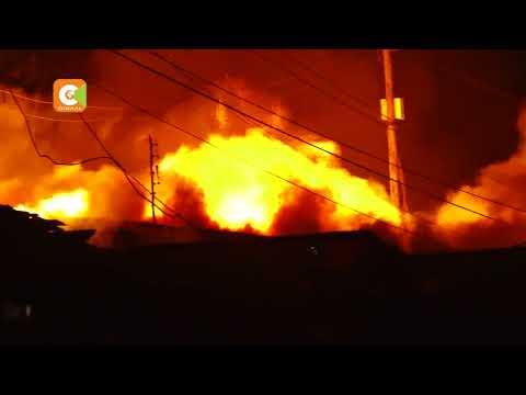 4 people killed as fire razes Kijiji slums in Langata