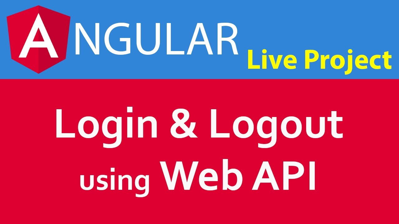 Create Project in Angular 6 / Angular 7 in Hindi #10 Login and Logout using  Web API with Token Based