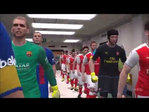 PES 2017 - Arsenal FC vs FC Barcelona - Gameplay [PC HD]
