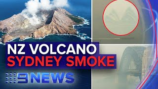 Update: New Zealand volcano, Sydney smoke warning | Nine News Australia