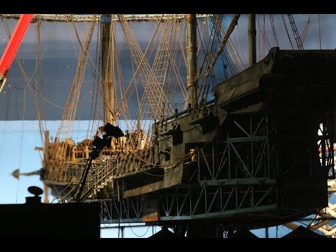 The final scenes for Pirates of The Caribbean: Dead Men Tell No Tales Gold Coast location 15th July