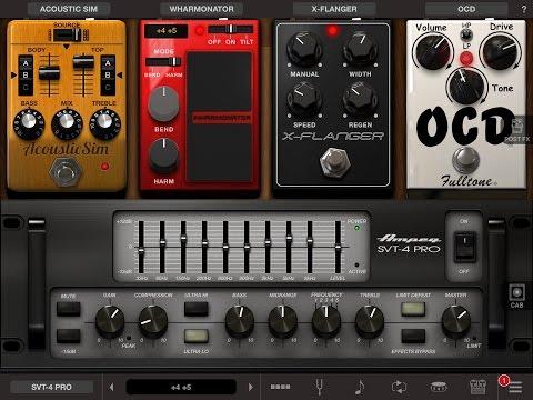 AmpliTube 4.1 for iOS - New Ampeg SVT-4 PRO - Part 3 of 3