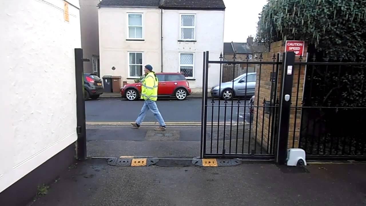 Residential automatic sliding car park gate essex