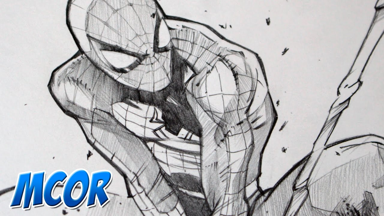 Dibujando a Spiderman con Lapiz 2B - YouTube