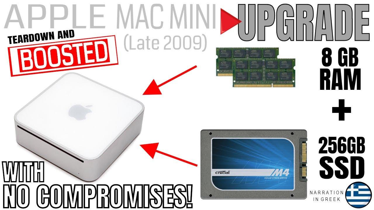 apple mac mini late 2009 upgrade to 8gb ram 256gb ssd mavericks rh youtube com RAM Memory for Mac Mini 2012 Mac Mini SSD Upgrade