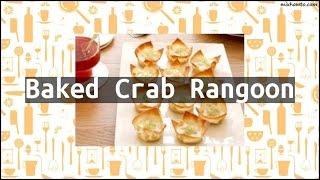 Recipe Baked Crab Rangoon