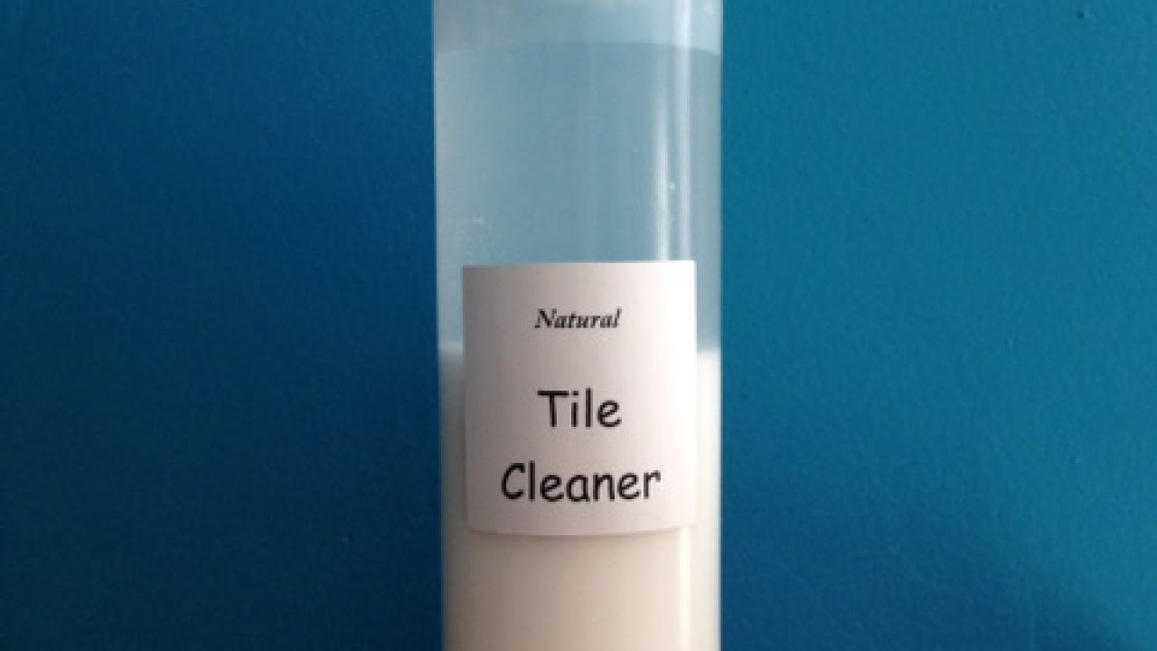 prepare a homemade allnatural tile cleaner home