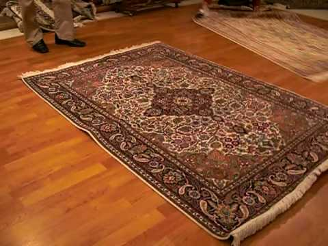 Spinning A Kashmir Silk Carpet To See Color Changes New Delhi India You