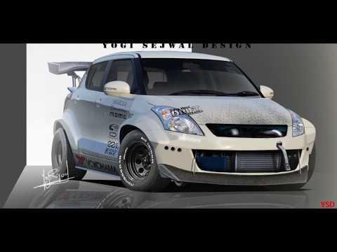 Maruti Suzuki Swift Modification | Drifting Body Kit