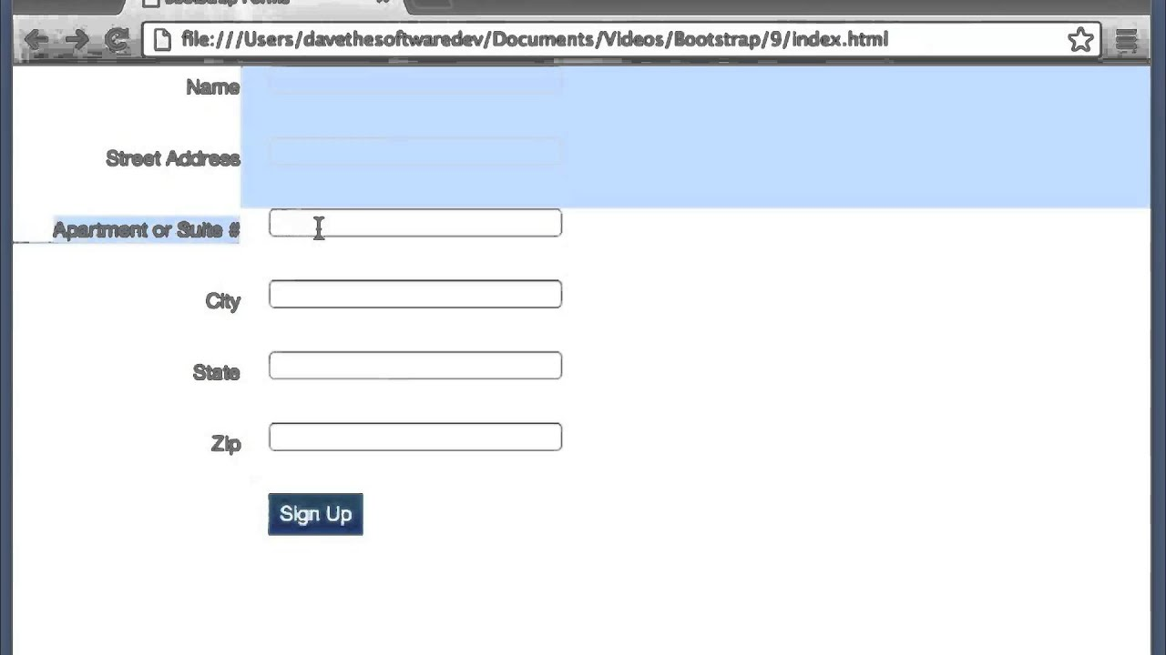 Twitter bootstrap 232 tutorial 8 forms youtube twitter bootstrap 232 tutorial 8 forms falaconquin