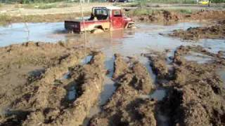land cruiser hj45 mud in pacora panama 4x4 0001