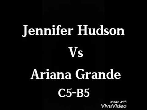 Jennifer Hudson Vs Ariana Grande (C5 - B5)! Amazing Vocal Battle!